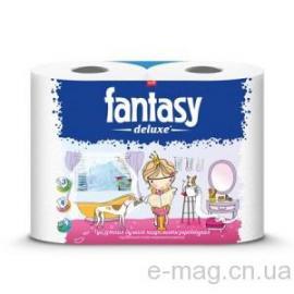 """Туалетная бумага """"Fantasy Deluxe"""" 3-хслойная белая 4 рулона в уп"""