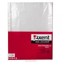 Файл-конверт А3 глянцевый 40 мкр 100 шт вертикальный Axent