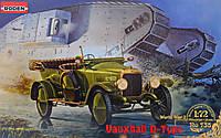 1:72 Сборная модель автомобиля Vauxhall D-type, Roden 735
