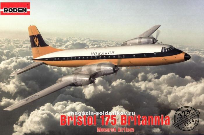 """1:144 Сборная модель самолета Bristol 175 Britannia, Roden 323 - Интернет-магазин """"Моделенд"""" в Кропивницком"""