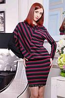 Стильное трикотажное платье-туника №316