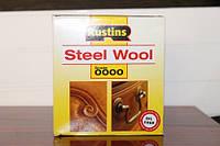 Стальная вата, шерсть, 0000, Steel Wool, 150 грамм, Rustins
