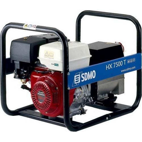 Трехфазный бензиновый генератор SDMO HX 7500 T-S (6 кВт)