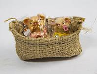 Статуэтки Свинки (маленькие в мешке по две)