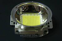 Линза с рефлектором  для светодиодов 10-100 W, фото 1
