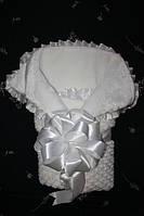 Белоснежный конверт для новорожденного! НОвинка
