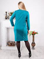 Платье женское с аппликацией из камней №1373