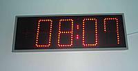 Компактные  светодиодные красные часы-термометр, календарь