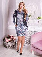 Трикотажное платье-туника №1682