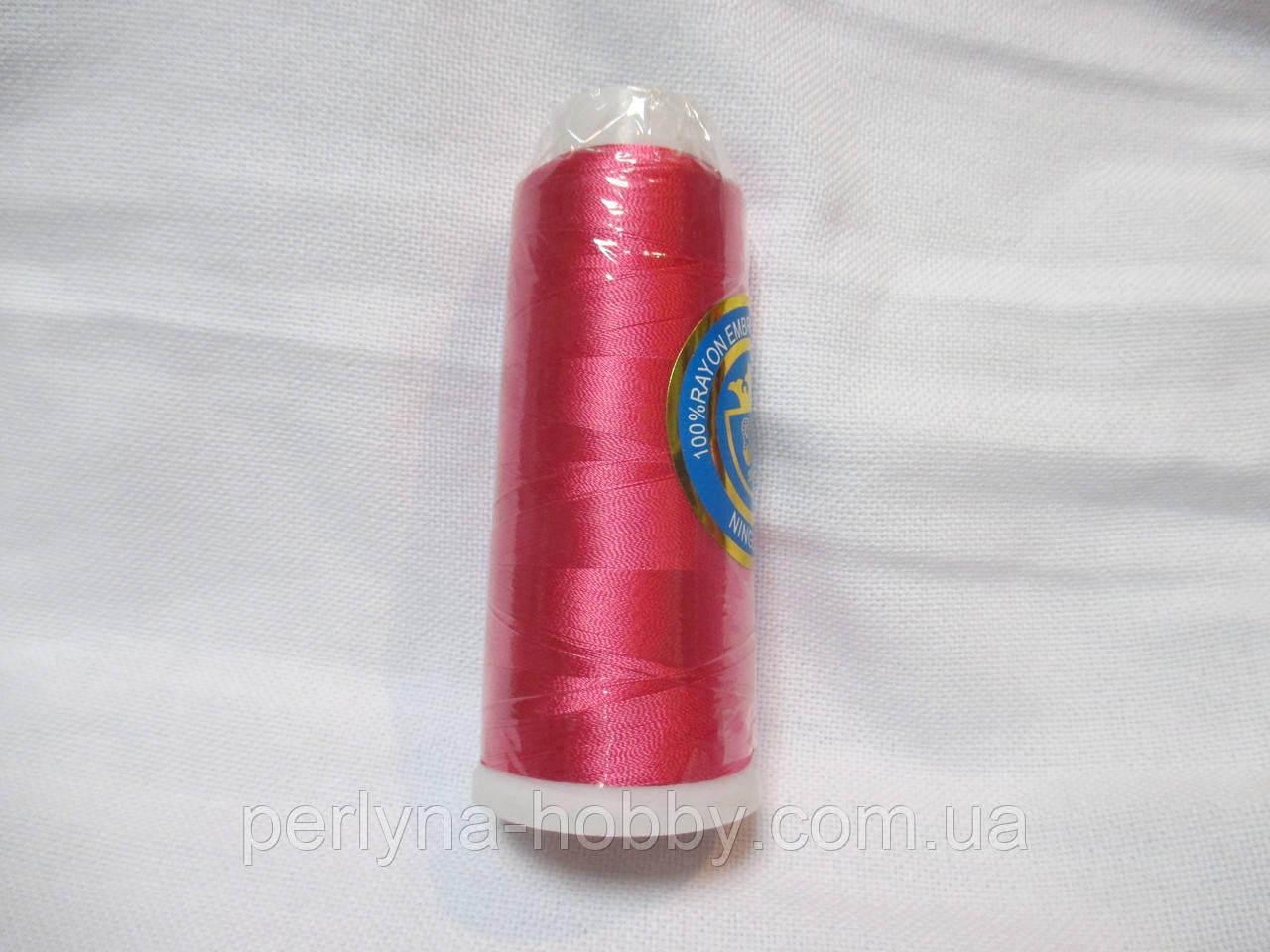 Нитки для машинної вишики 100% віскоза (100% rayon) 3000 ярдів, №130, темно-рожевий