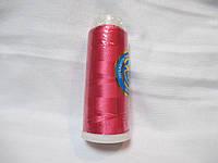 Нитки для машинної вишики 100% віскоза (100% rayon) 3000 ярдів, №133, малиновий