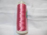 Нитки для машинної вишики 100% віскоза (100% rayon) 3000 ярдів, №136, рожевий