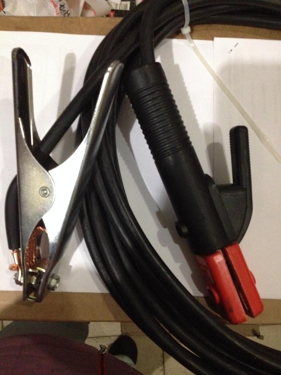 Держатель электродов с гибким кабелем КГ 1х16 тонкие стержни 9 мм
