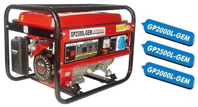Однофазный бензиновый генератор GLENDALE GP2500L-GEM (2,2 кВт)