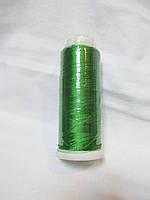 Нитки для машинної вишики 100% віскоза (100% rayon) 3000 ярдів, №216, зелений яскравий