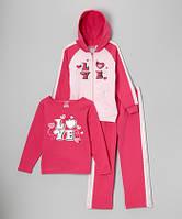 Теплый костюм-тройка для девочки 3Т, 4Т