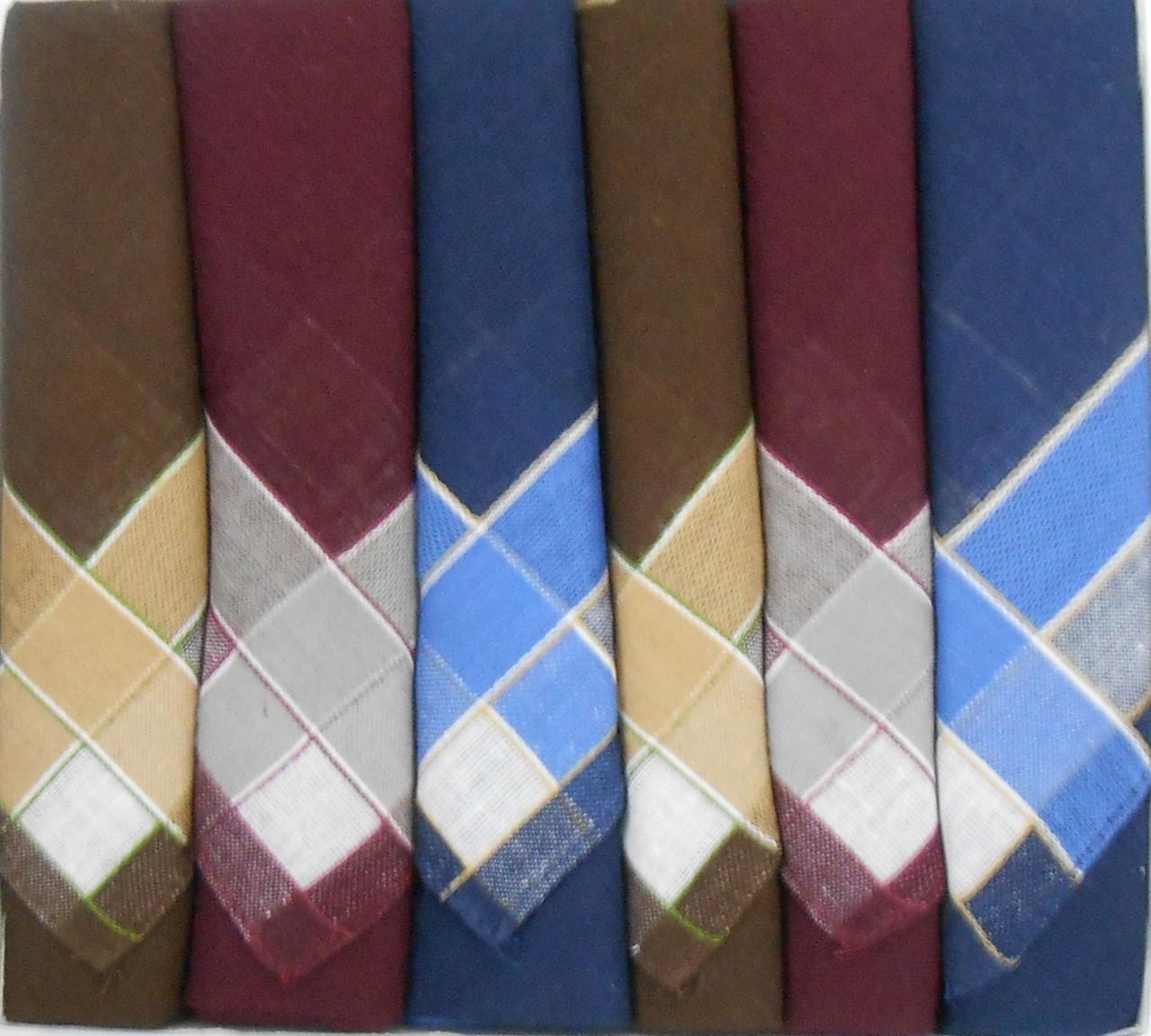 Набор мужских носовых платков Fazzoletto 100% хлопок Picalline