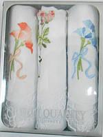 Носовые платки женские 100% хлопок Quality в подарочной упаковке