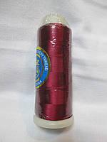 Нитки для машинної вишики 100% віскоза (100% rayon) 3000 ярдів, №296, бордо