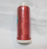 Нитки для машинної вишики 100% віскоза (100% rayon) 3000 ярдів, №318, оранжево-червоний