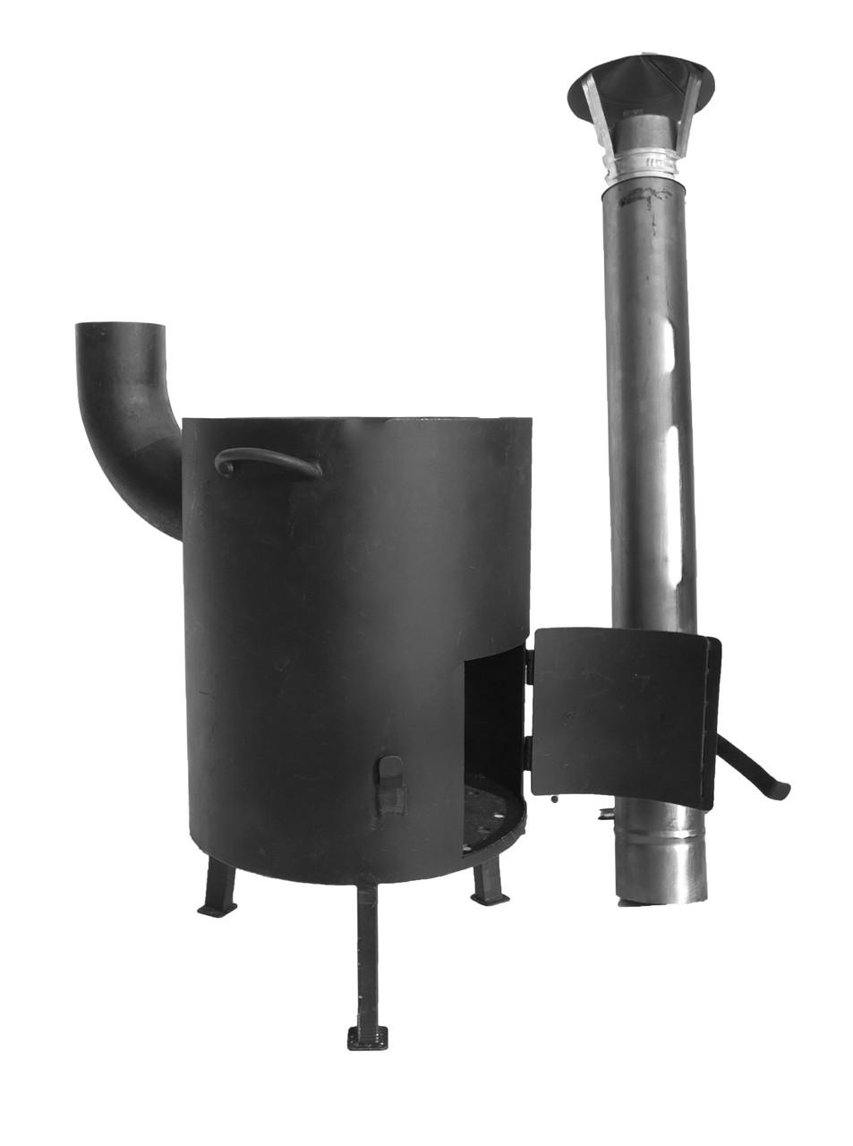 Печка для казана с трубой d 400мм сталь3мм