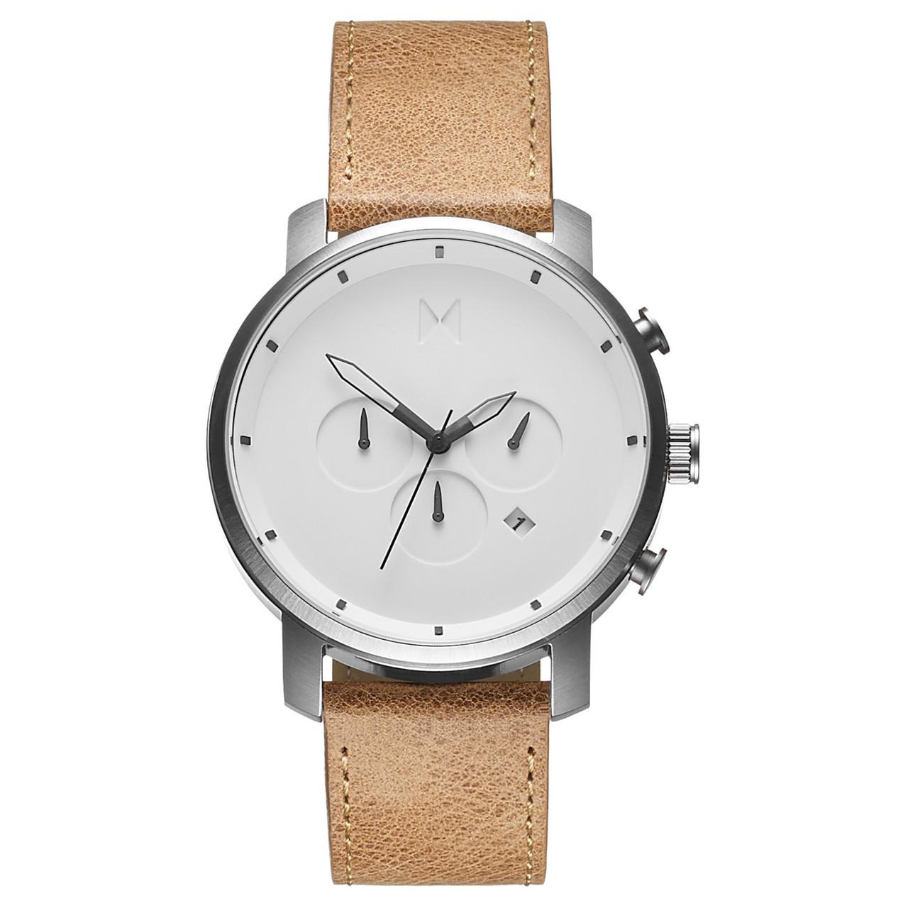Часы мужские MVMT CHRONO WHITE CARAMEL