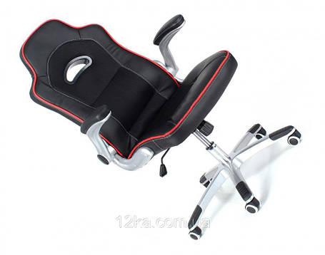 Офисное кресло WRC черное кожа-сетка, фото 2