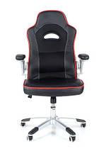 Офисное кресло WRC черное кожа-сетка, фото 3