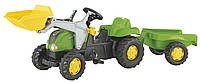 Трактор на педалях с прыцепом и ковшом Rolly Toys 23134