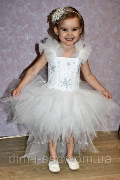 Платье снежинка прокат Киев 150грн
