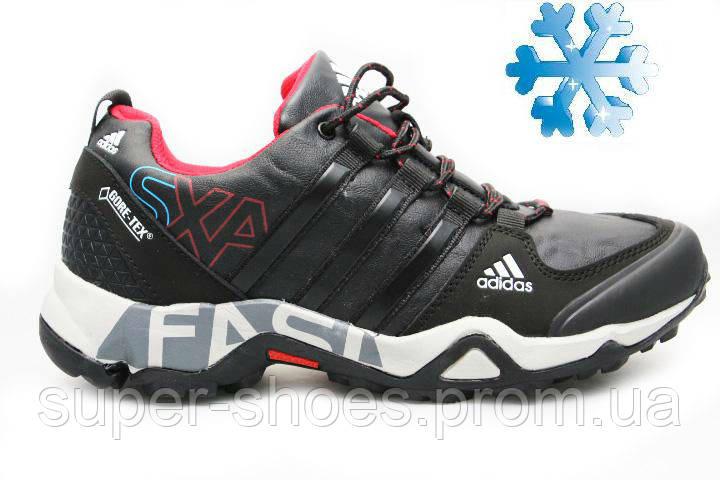 Зимние мужские кроссовки адидас (Adidas Gora-Tex SXA Black) 991be1a67288b