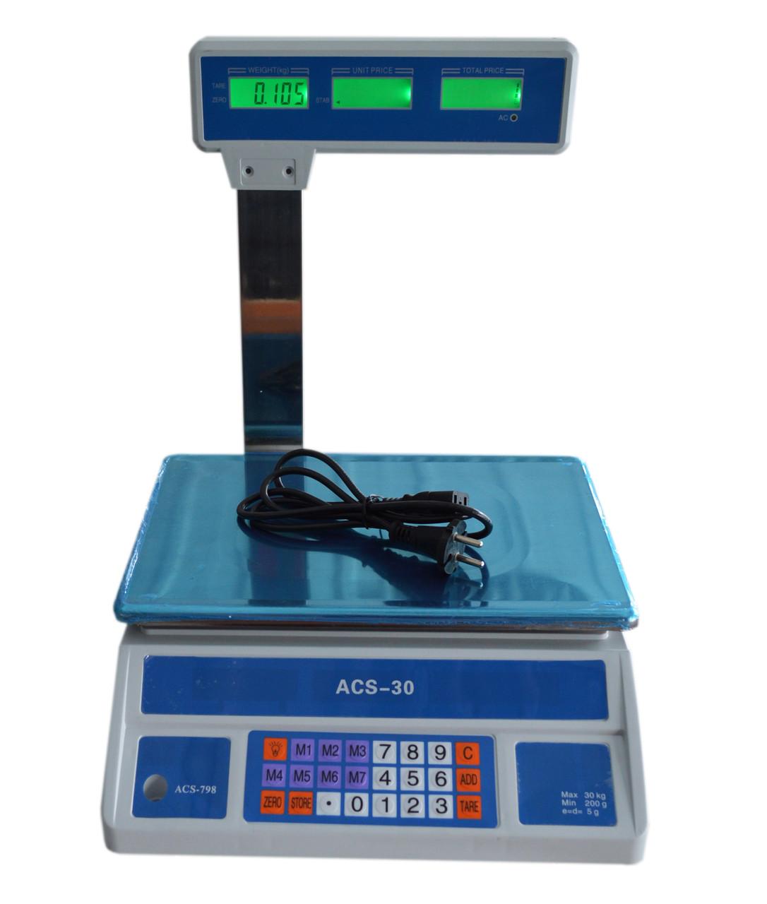 Весы торговые ACS-798-30 кг