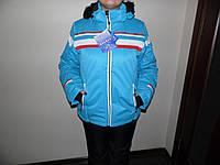 Женская горно-лыжная куртка голубая.