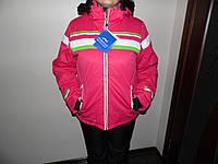 Женская горно-лыжная куртка розовая.