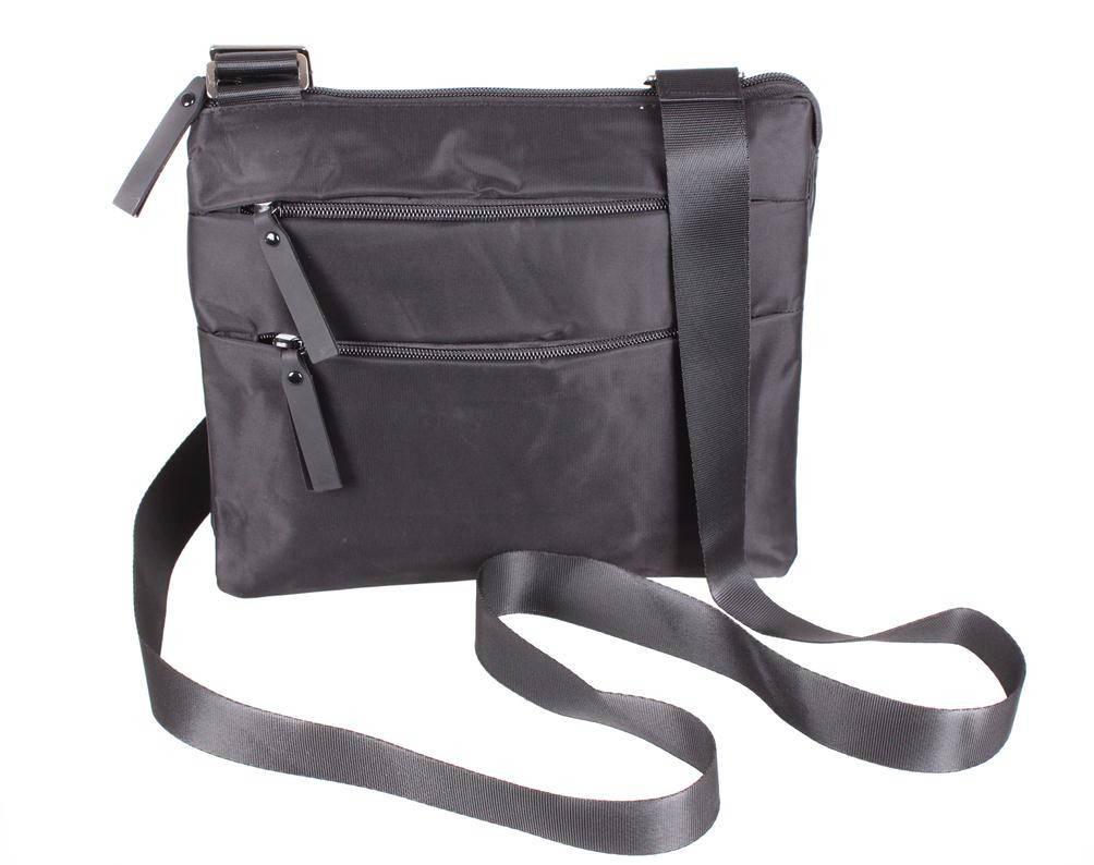 Стильная мужская сумка из полиэстера черного цвета 301256
