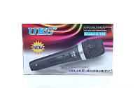 Ручной вокальный микрофон UKC DM U-198, проводной, динамический, металлический корпус