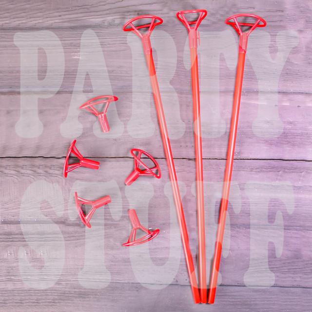 красные палочки для воздушных шариков