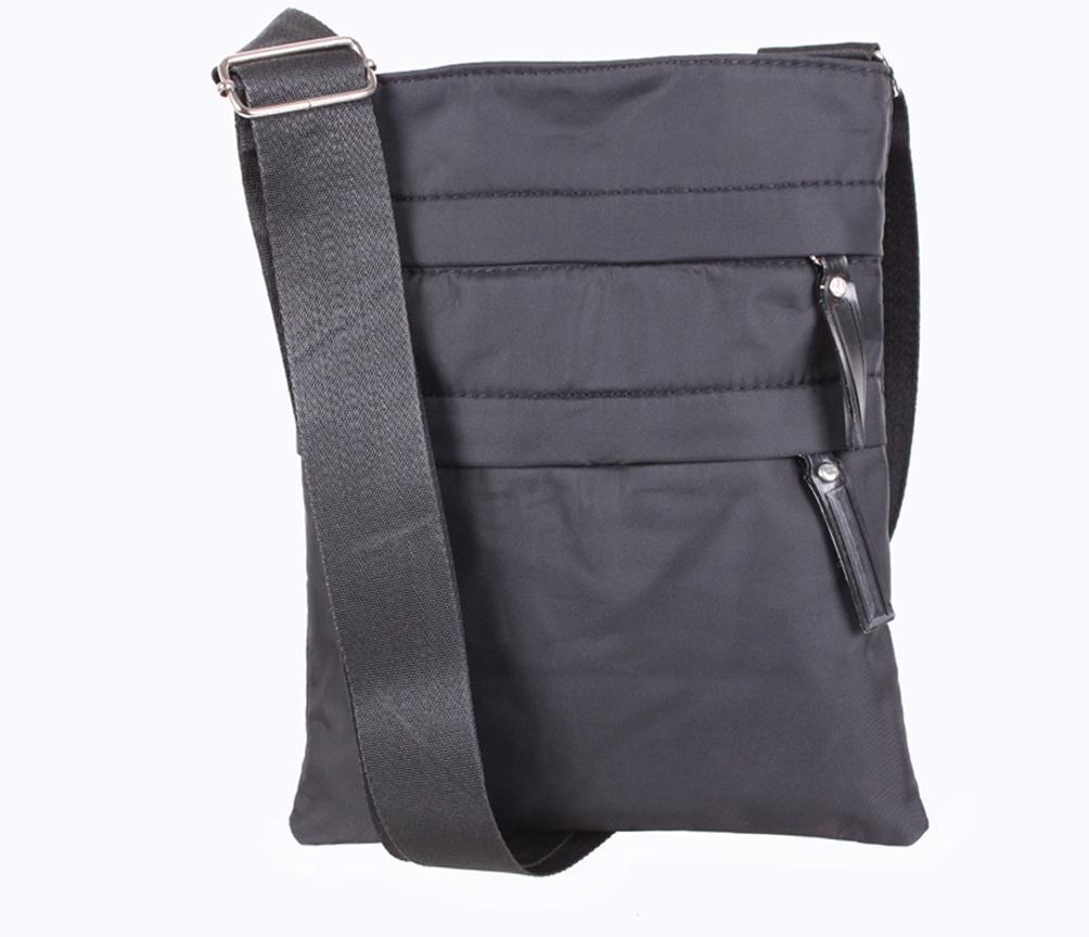 Мужская сумка через плечо черного цвета 301302