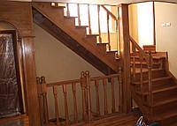 Лестница из массива дуба под ключ