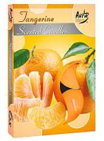 Свечи  ароматизированные мандарин чайные таблетки