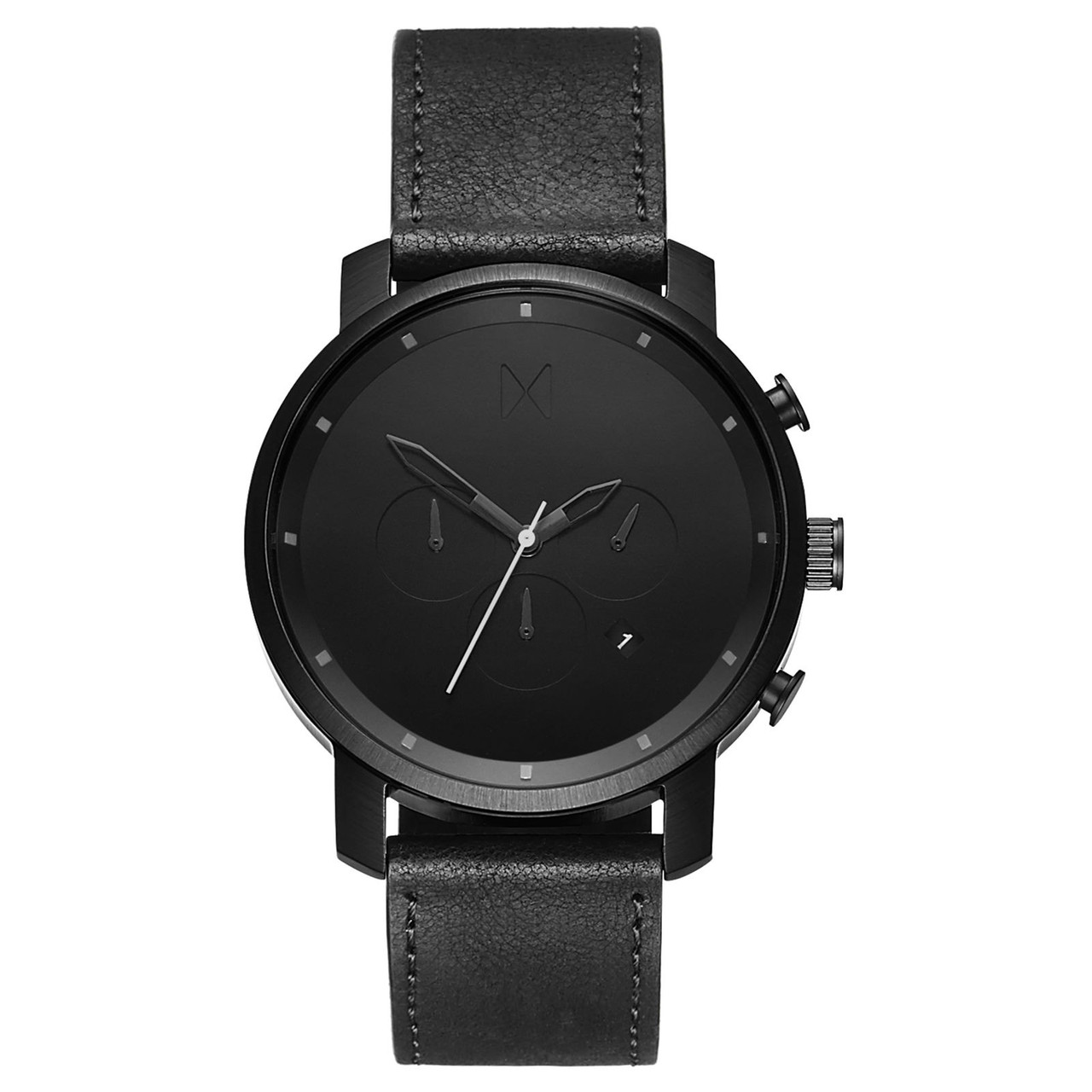 Часы мужские MVMT CHRONO BLACK LEATHER