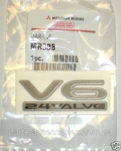 Mitsubishi Eclipse 2000-02 значок эмблема на крыло V6 24 Valve Новая Оригинал