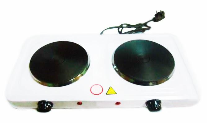 Электрическая плита двухкомфорная дисковая Domotec MS-5822, электроплита