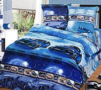 Комплект детского постельного белья Ночные гонки, Бязь ГОСТ полуторный