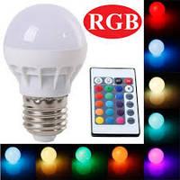 Лампа Lemanso св-ая E27 RGB 3W 210LM с пультом 85-265V  / LM735
