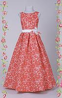 Детское гипюровое платье в пол Кора