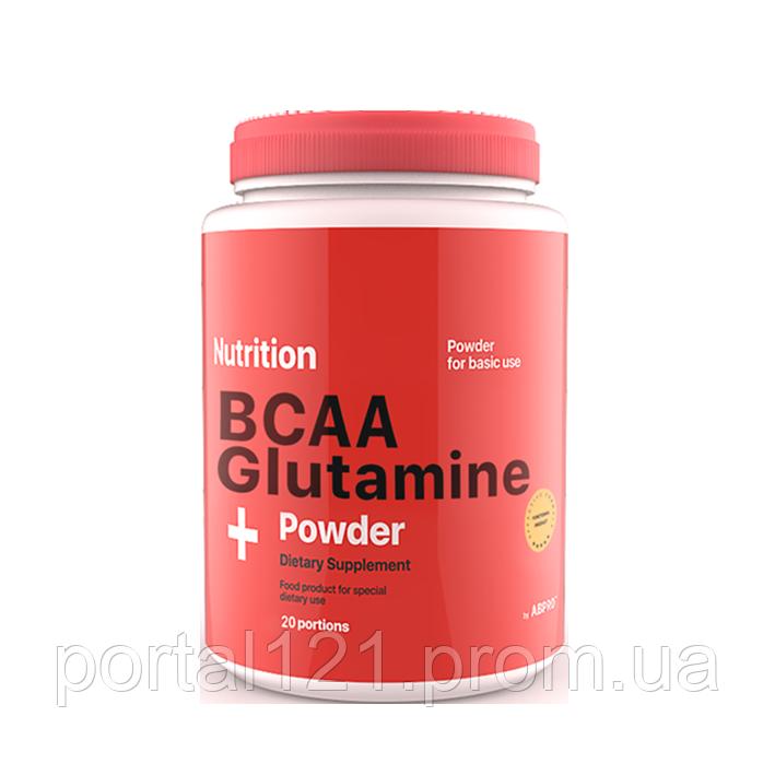 BCAA Glutamine (амінокислоти bcaa, протеїн) порошок 236 грам AB PRO ™