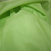 Однотонная тюль вуаль зеленая