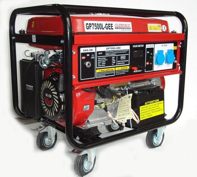 Однофазный бензиновый генератор GLENDALE GP7500L-GEE/1 (7,0 кВт)