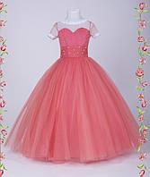 Детское праздничное платье Стрекоза длинное